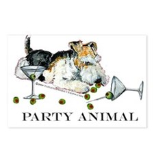 Fox Terrier Party Animal Postcards (Package of 8)