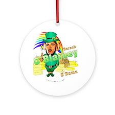 Barack O'Blarney anti-Obama Ornament (Round)