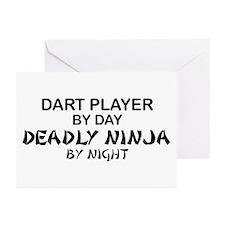 Dart Player Deadly Ninja Greeting Cards (Pk of 10)