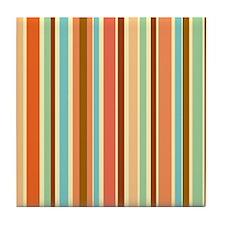 Sherbet Stripes Tile Coaster