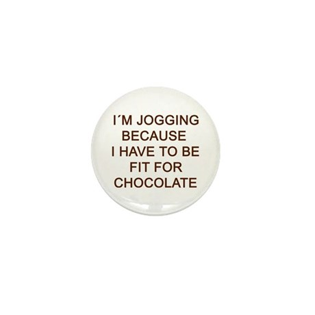 Fit For Chocolate Text Mini Button (10 pack)