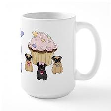 Pug Dog Cupcakes Mug