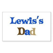 Lewis's Dad Rectangle Decal