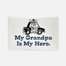 My Grandpa is my Hero (Police) Rectangle Magnet