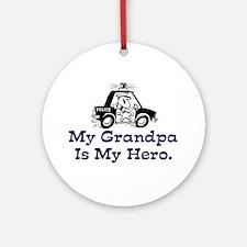 My Grandpa is my Hero (Police) Ornament (Round)