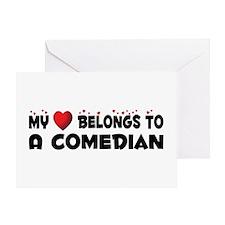 Belongs To A Comedian Greeting Card