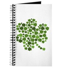Irish Shamrocks in a Shamrock Journal