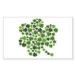 Irish Shamrocks in a Shamrock Sticker (Rectangular