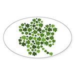 Irish Shamrocks in a Shamrock Oval Sticker