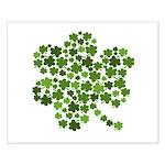 Irish Shamrocks in a Shamrock Small Poster