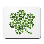 Irish Shamrocks in a Shamrock Mousepad