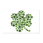 Irish Shamrocks in a Shamrock Mini Poster Print