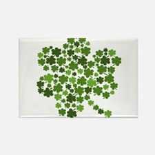 Irish Shamrocks in a Shamrock Rectangle Magnet