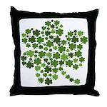 Irish Shamrocks in a Shamrock Throw Pillow