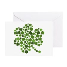 Irish Shamrocks in a Shamrock Greeting Cards (Pk o