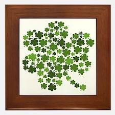 Irish Shamrocks in a Shamrock Framed Tile