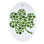 Irish Shamrocks in a Shamrock Oval Ornament