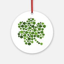Irish Shamrocks in a Shamrock Ornament (Round)