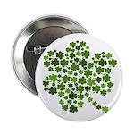 """Irish Shamrocks in a Shamrock 2.25"""" Button"""