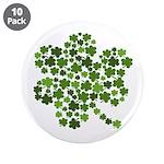 """Irish Shamrocks in a Shamrock 3.5"""" Button (10 pack"""