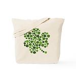 Irish Shamrocks in a Shamrock Tote Bag