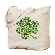 Irish Shamrocks in a Shamrock Tote Bag