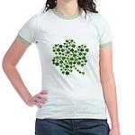 Irish Shamrocks in a Shamrock Jr. Ringer T-Shirt