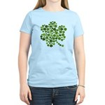 Irish Shamrocks in a Shamrock Women's Light T-Shir