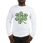 Irish Shamrocks in a Shamrock Long Sleeve T-Shirt