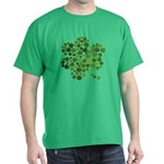 Irish Shamrocks in a Shamrock Dark T-Shirt