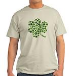 Irish Shamrocks in a Shamrock Light T-Shirt