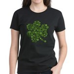 Irish Shamrocks in a Shamrock Women's Dark T-Shirt