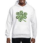 Irish Shamrocks in a Shamrock Hooded Sweatshirt