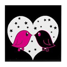 Lovebirds Tile Coaster