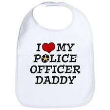 I Love My Police Officer Daddy Bib