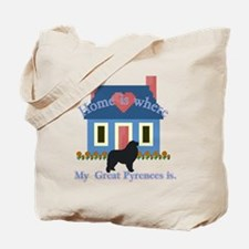 Home Is Great Pyrenees Tote Bag