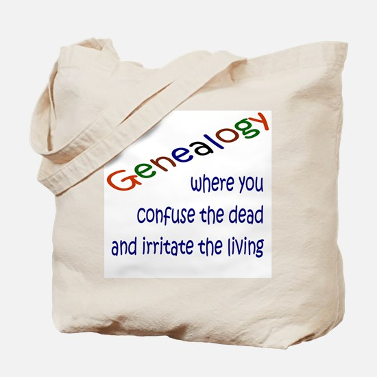 Genealogy Confusion (blue) Tote Bag