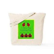 Knitting Bug Tote Bag