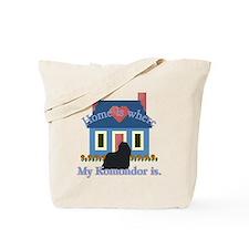 Home Is Komondor Tote Bag