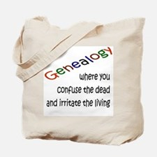 Genealogy Confusion (black) Tote Bag