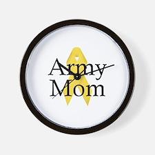 Army Mom Ribbon Wall Clock