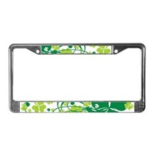 Shamrocks and Swirls License Plate Frame