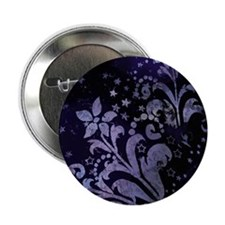 """Purple Grunge Flowers 2.25"""" Button"""