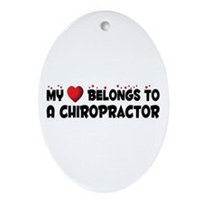 Belongs To A Chiropractor Oval Ornament