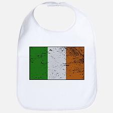 Ireland Flag Grunged Baby Bib