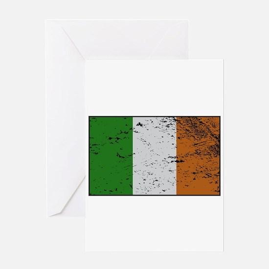 Ireland Flag Grunged Greeting Cards