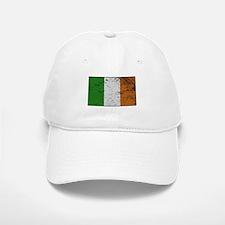 Ireland Flag Grunged Baseball Baseball Cap