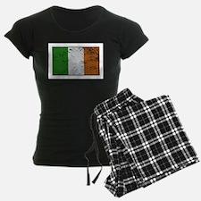 Ireland Flag Grunged Pajamas