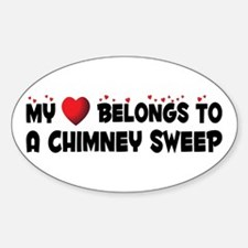 Belongs To A Chimney Sweep Oval Decal