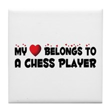 Belongs To A Chess Player Tile Coaster